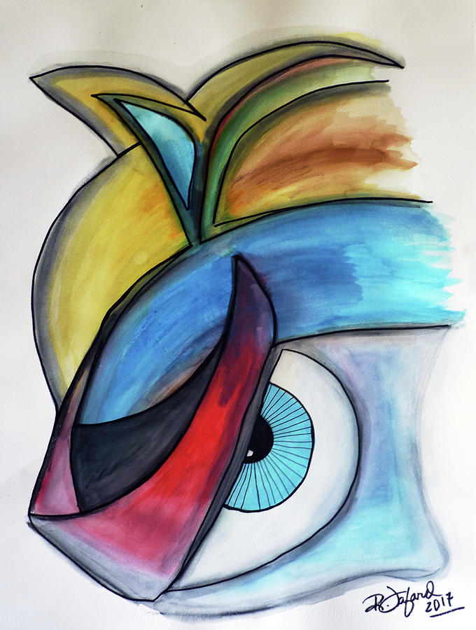 Abstract Art With Unexpected Eye Art Abstrait Avec Oeil Inattendu