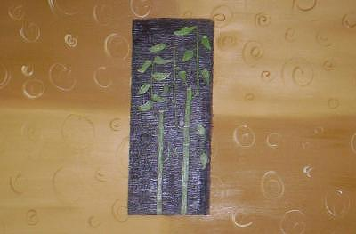Abstract Painting - Abstract Bamboo by Becca Haney