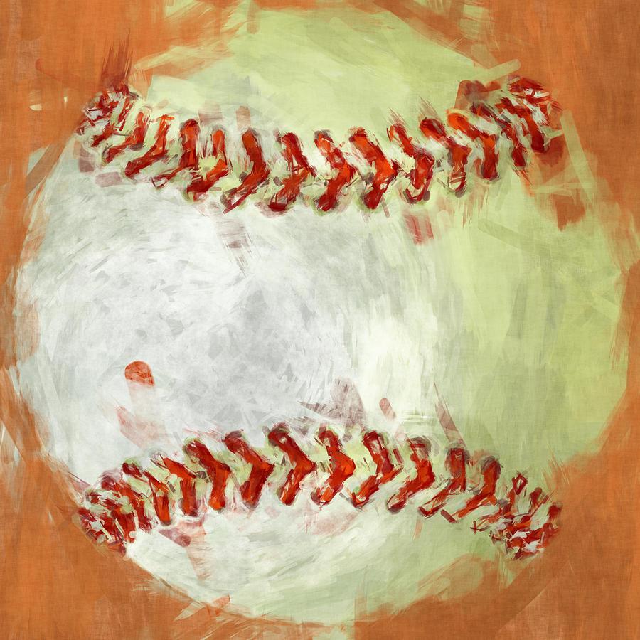 Baseball Photograph - Abstract Baseball by David G Paul