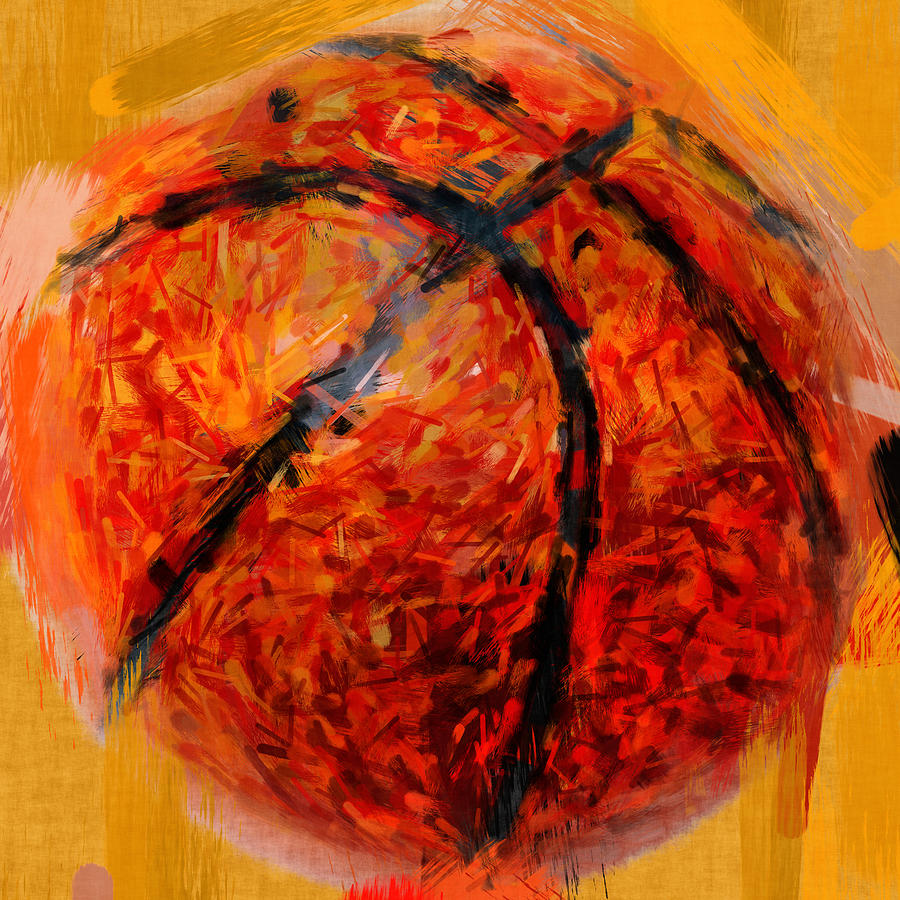 Abstract Basketball Photograph By David G Paul