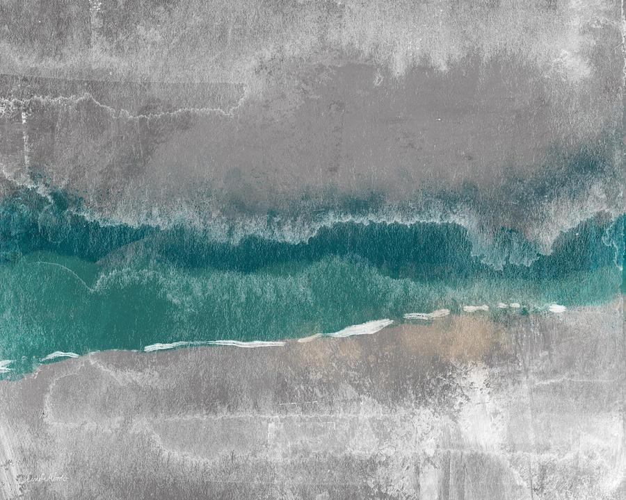 Beach Mixed Media - Abstract Beach Landscape- Art By Linda Woods by Linda Woods