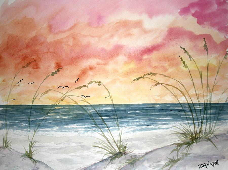 Abstract Painting - Abstract Beach Painting by Derek Mccrea