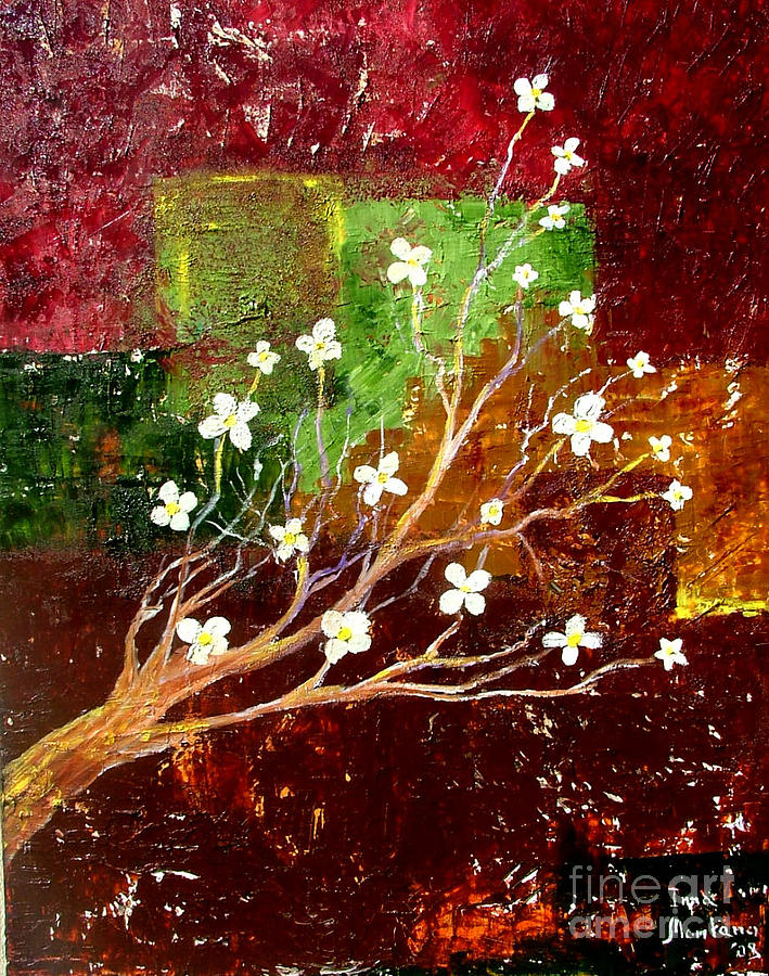 Abstract Painting - Abstract Blossom by Inna Montano