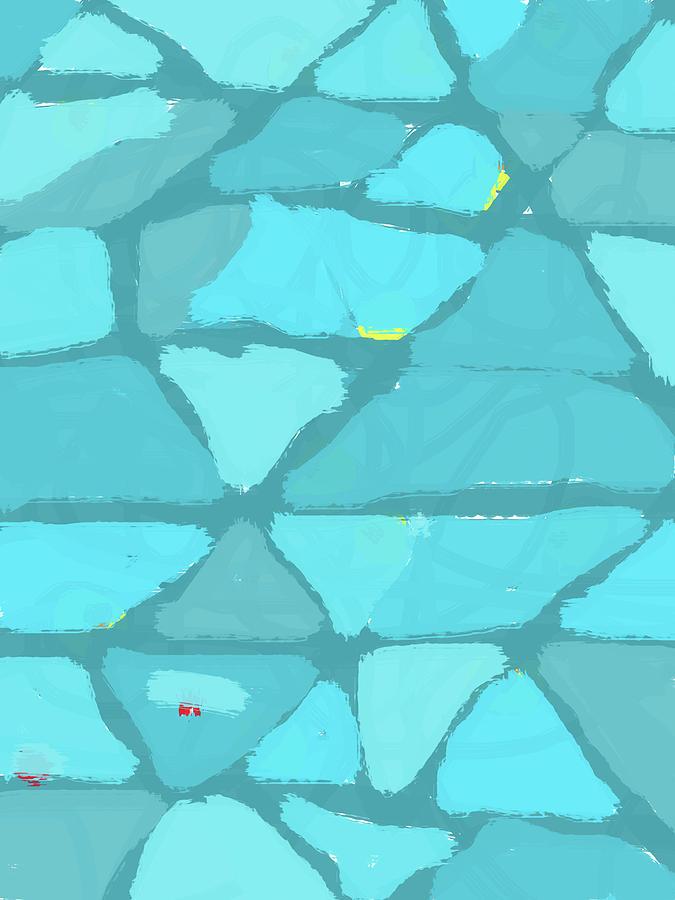 Abstract Blue Blotches Digital Art