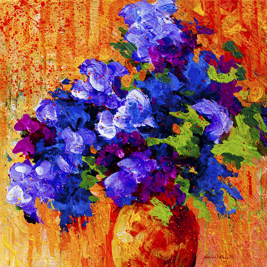 Floral Painting - Abstract Boquet 3 by Marion Rose