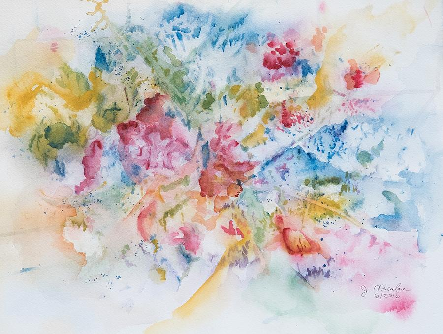 Abstract Painting - Abstract Bouquet by Judith Maculan