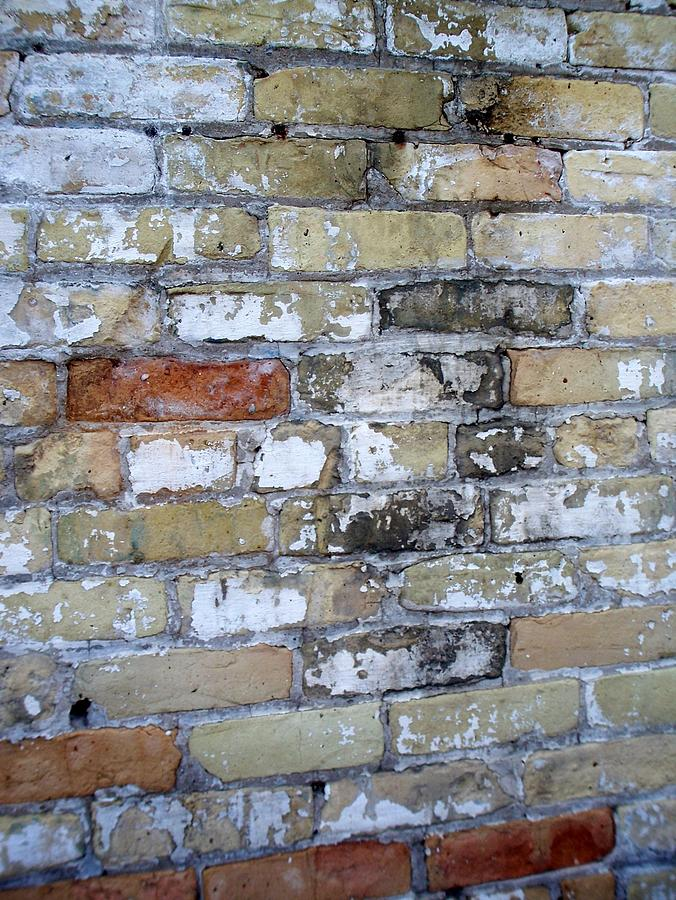 Industrial Photograph - Abstract Brick 10 by Anita Burgermeister