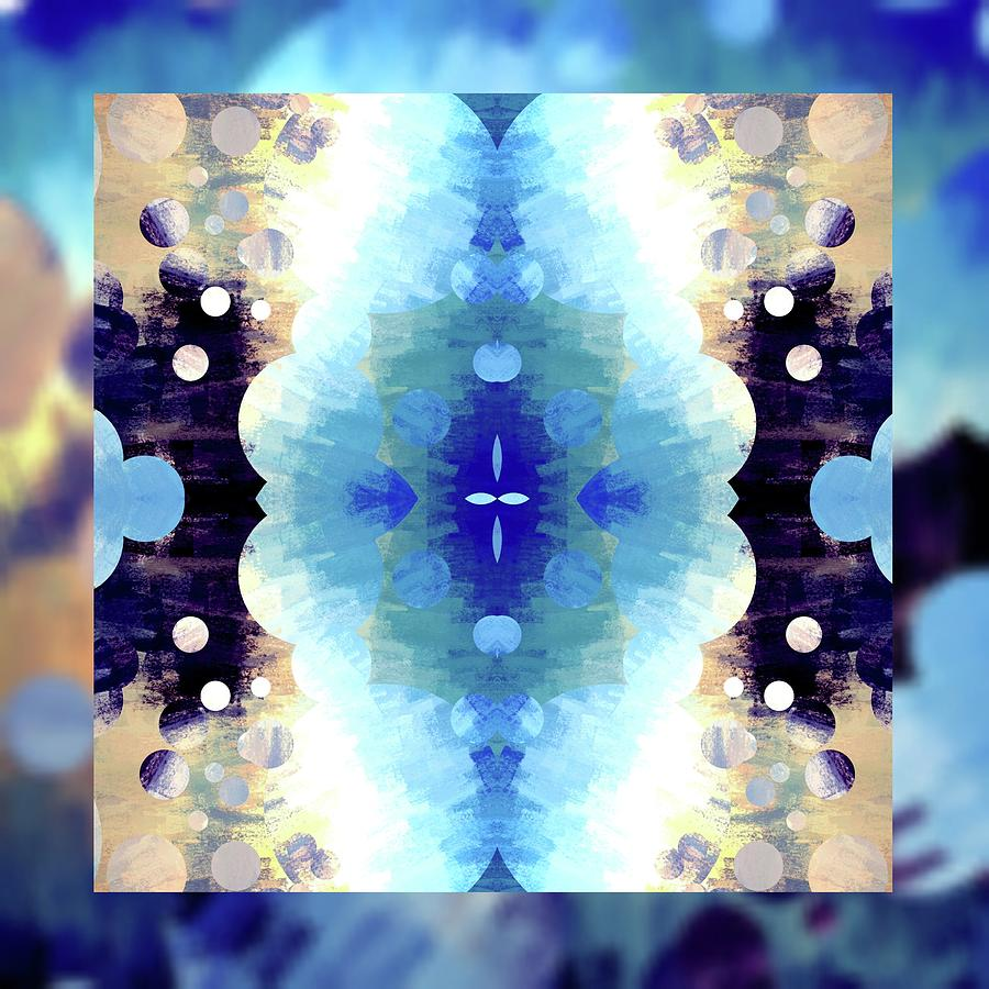 Brandi Fitzgerald Digital Art - Abstract Bubbles And Squares Blue by Brandi Fitzgerald