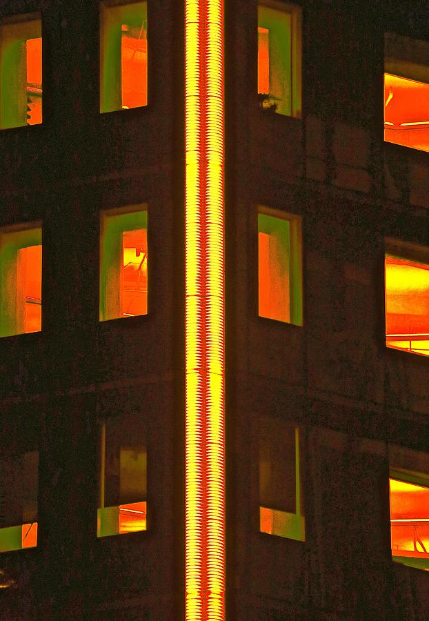 Lights Photograph - Abstract Building by Gillis Cone