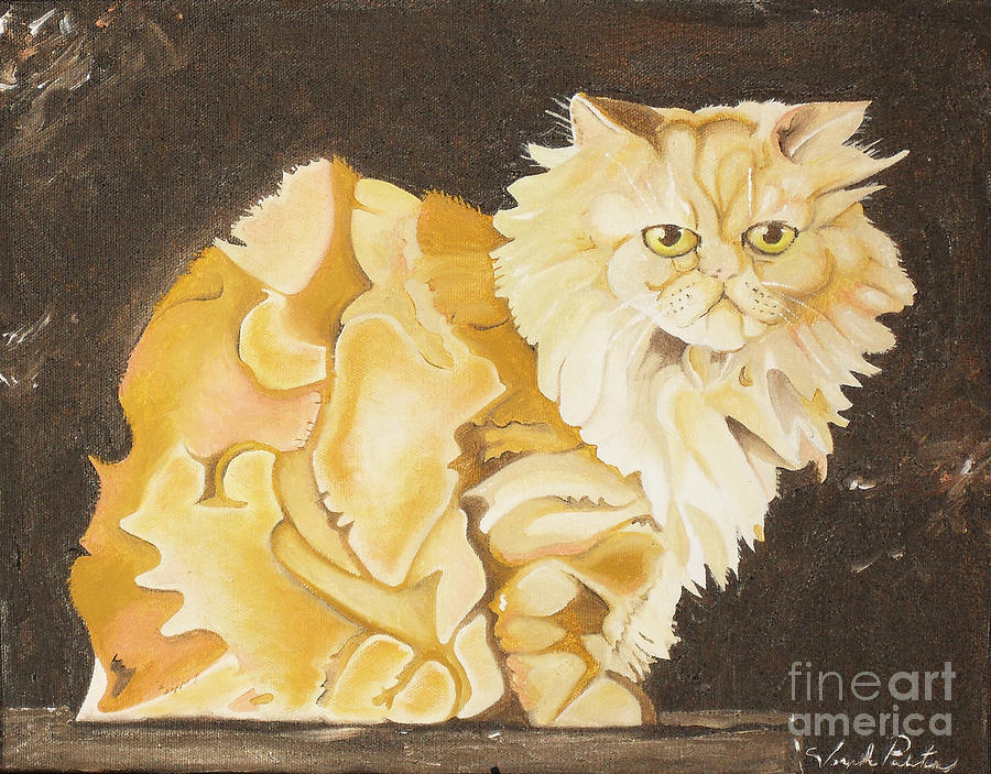 Cat Painting - Abstract Cat by Joseph Palotas