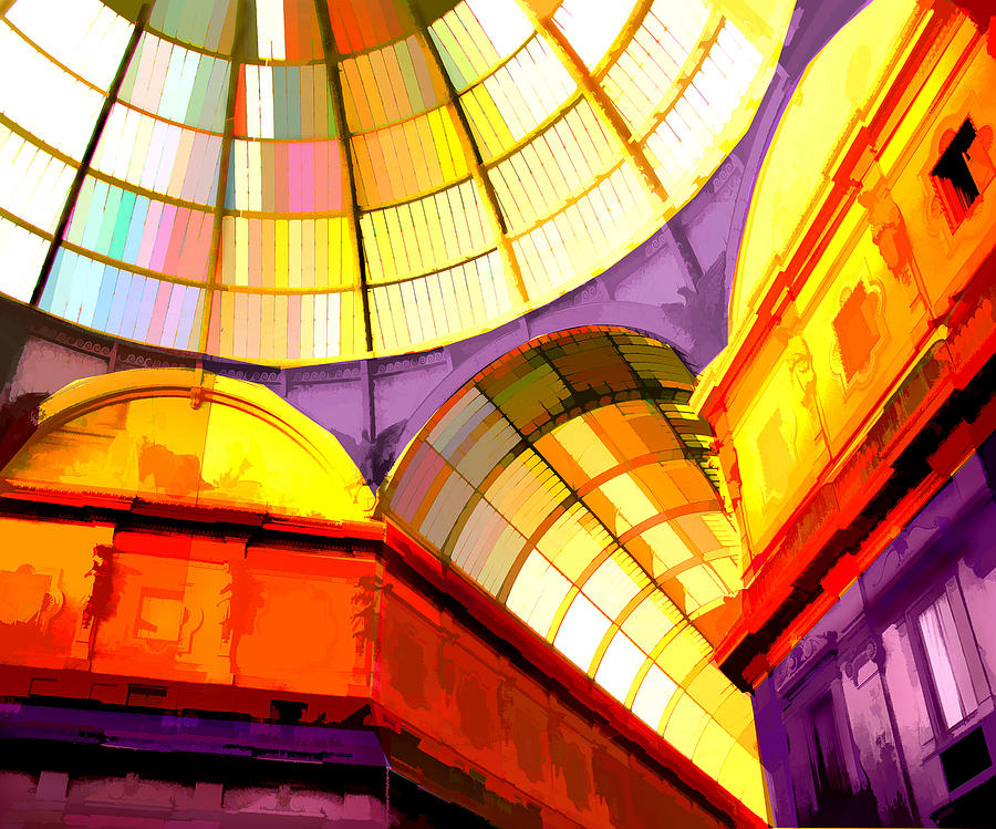Abstract Cathedral Color Wheel Painting By Elaine Plesser