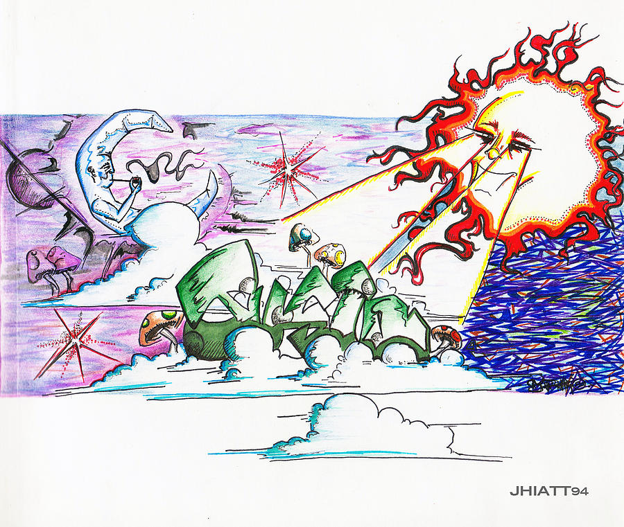 Sun Drawing - Abstract Celestial by Justin Hiatt