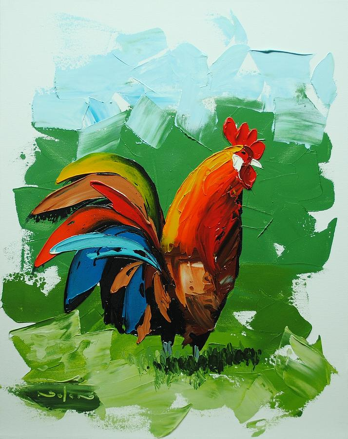 Oil Painting - Abstract Chicken by Nolan Clark