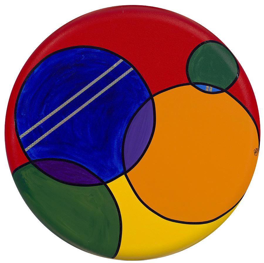 Circles Painting - Abstract Circle 3 by Patty Vicknair