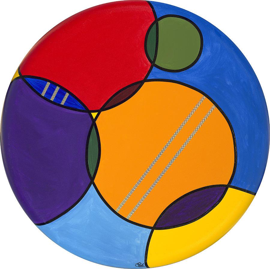 Acrylic Canvas Painting - Abstract Circles 2 by Patty Vicknair