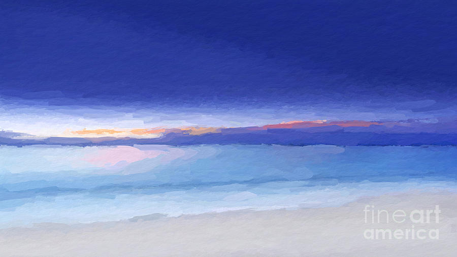 Abstract Coastal Wow by ANTHONY FISHBURNE