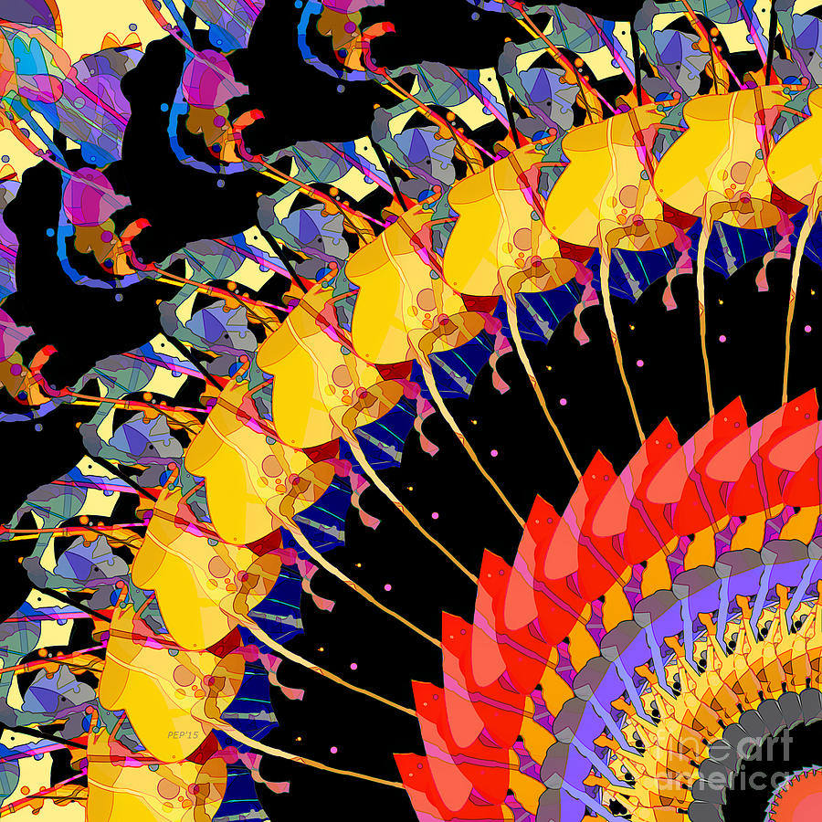 Abstract Digital Art - Abstract Collage Of Colors by Phil Perkins