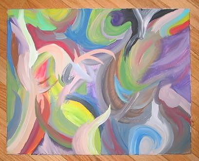 Color Painting - Abstract Color by K Arikun D