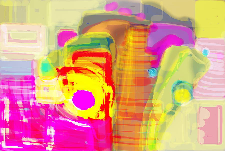 Brilliant Colors Digital Art - Abstract Colors by Don  Wright
