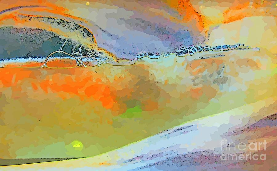 Abstract Composition Planetary Landscape Painting By John Malone