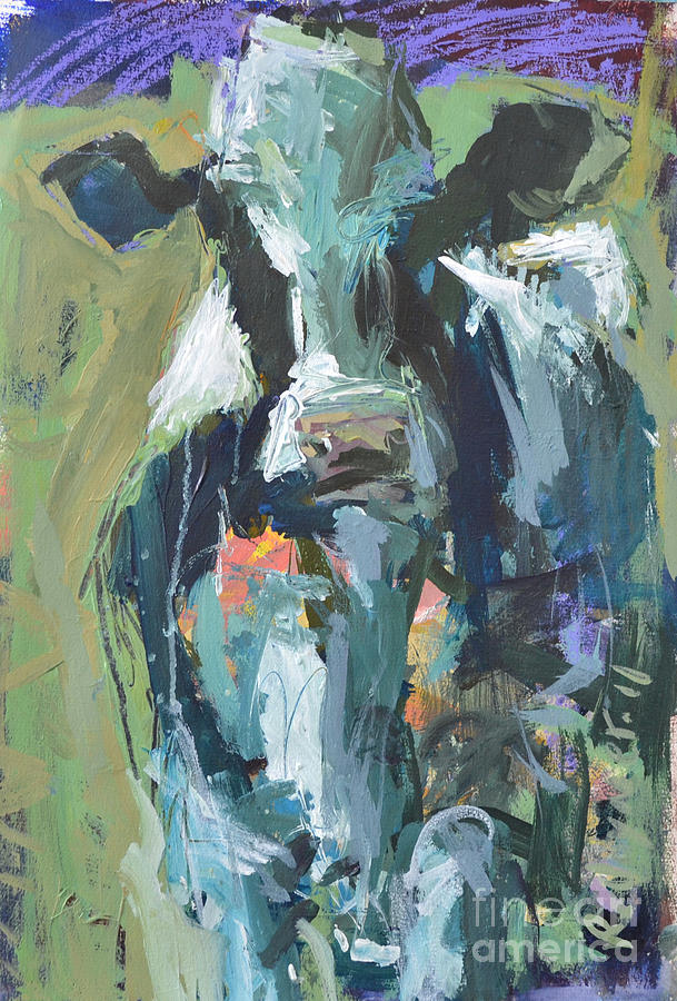 8a0f5c0caeb Abstract Cow Painting Painting by Robert Joyner