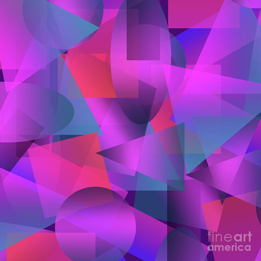 Abstract Cubes Digital Art