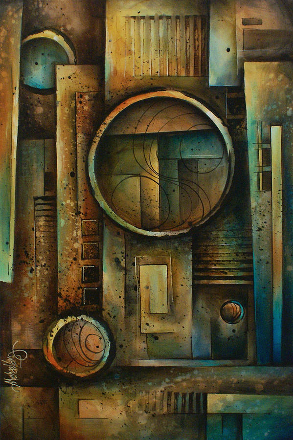 Abstract Design 64 Painting by Michael Lang