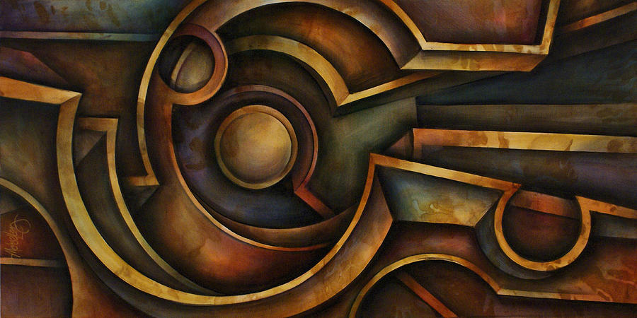Abstract Design 87 Painting by Michael Lang