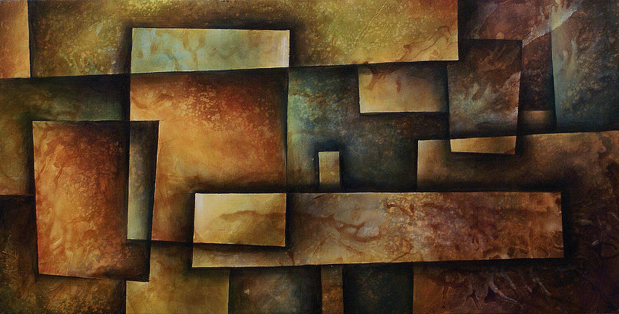 Earth Tones Painting - Abstract Design 9 by Michael Lang