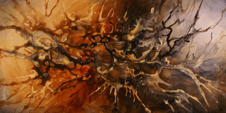 Fantasy Painting - Abstract Design 96 by Michael Lang
