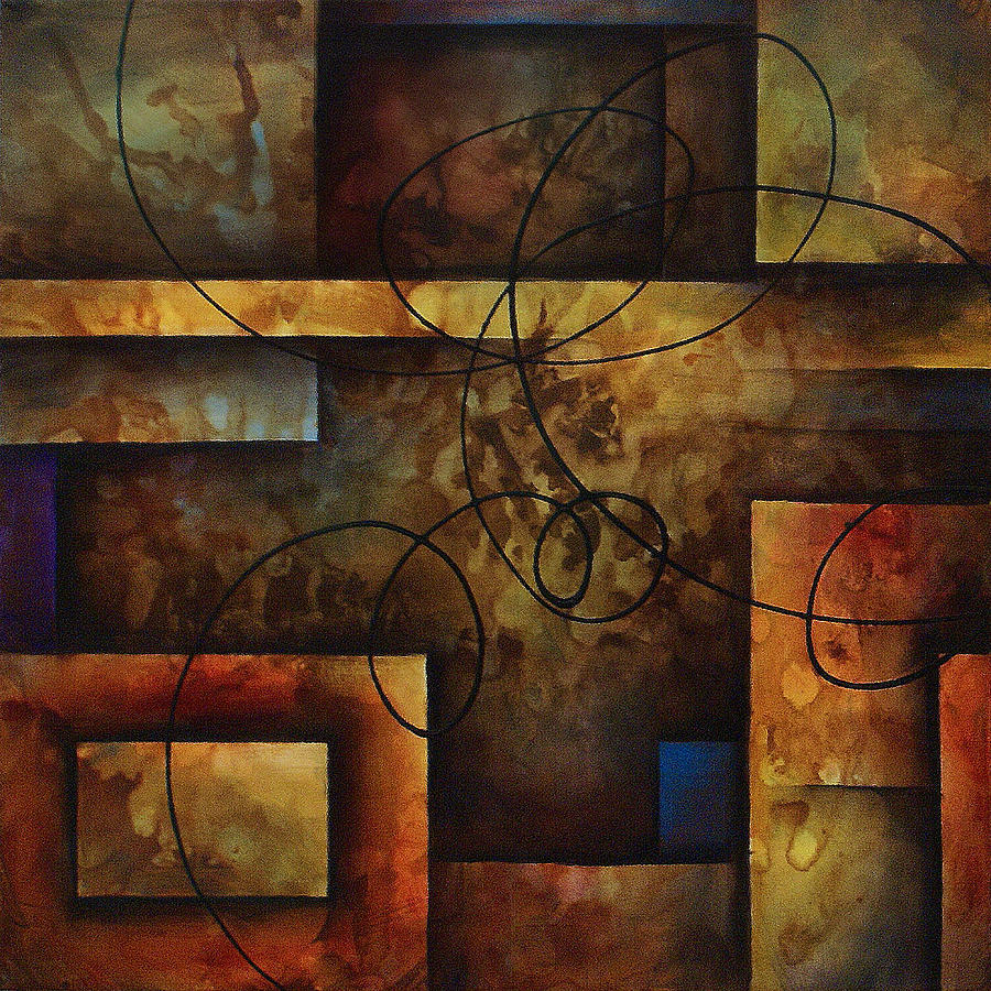 2 Piece Painting - abstract design  A by Michael Lang
