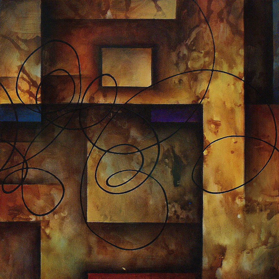 2 Piece Painting - abstract design  B by Michael Lang