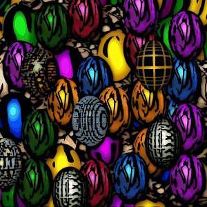 Eggs Digital Art - Abstract Digitial Eggs by Caroline Lifshey