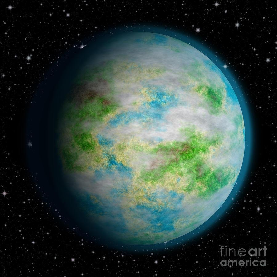 Abstract Earth Digital Art