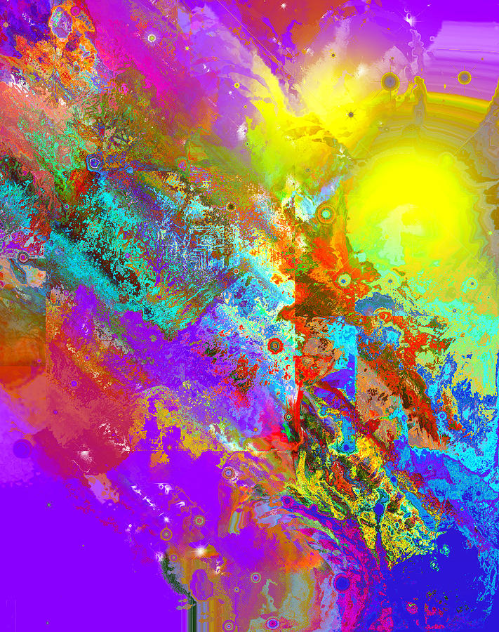 Abstract Digital Art - Abstract Eight-chroma by Patricia Motley