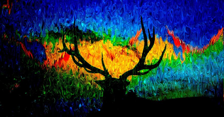 Abstract Elk Scenic View Photograph