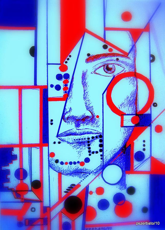 Abstract Painting - Abstract Face by Paulo Zerbato