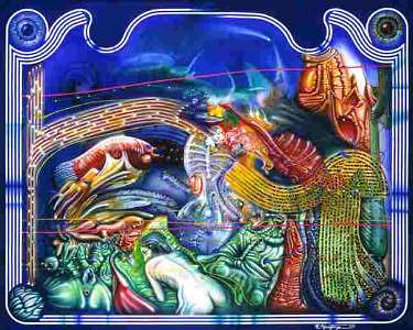 Abstract Fantasy I Painting by Richard Montoya