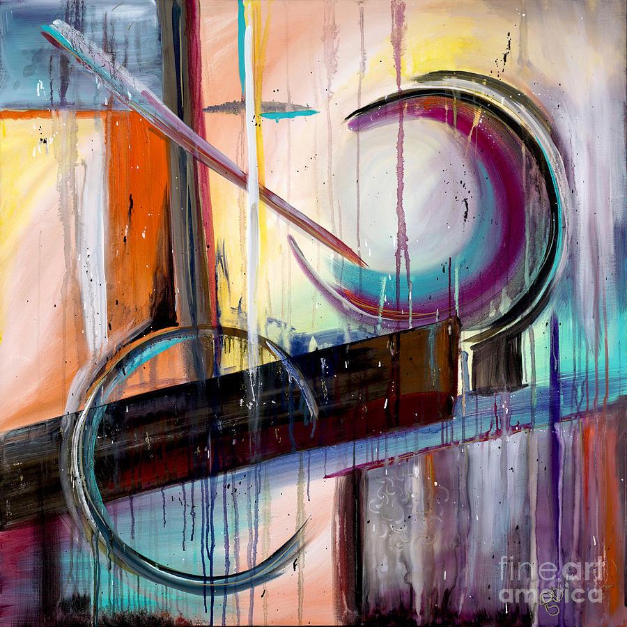 Acrylic Painting - Abstract Fantasy by Patty Vicknair