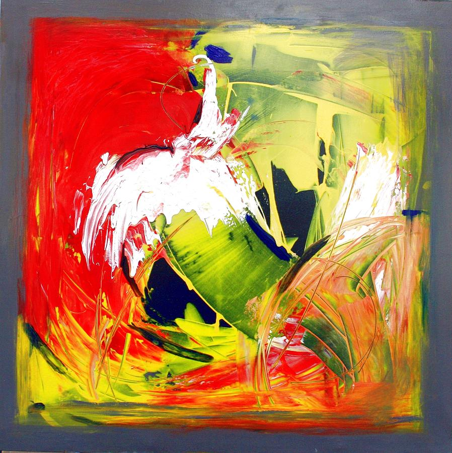 Gestural Painting - Abstract Fine Art Print - Gestural Abstraction by Mario Zampedroni