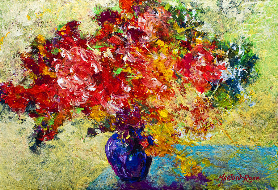 Floral Painting - Abstract Floral 1 by Marion Rose