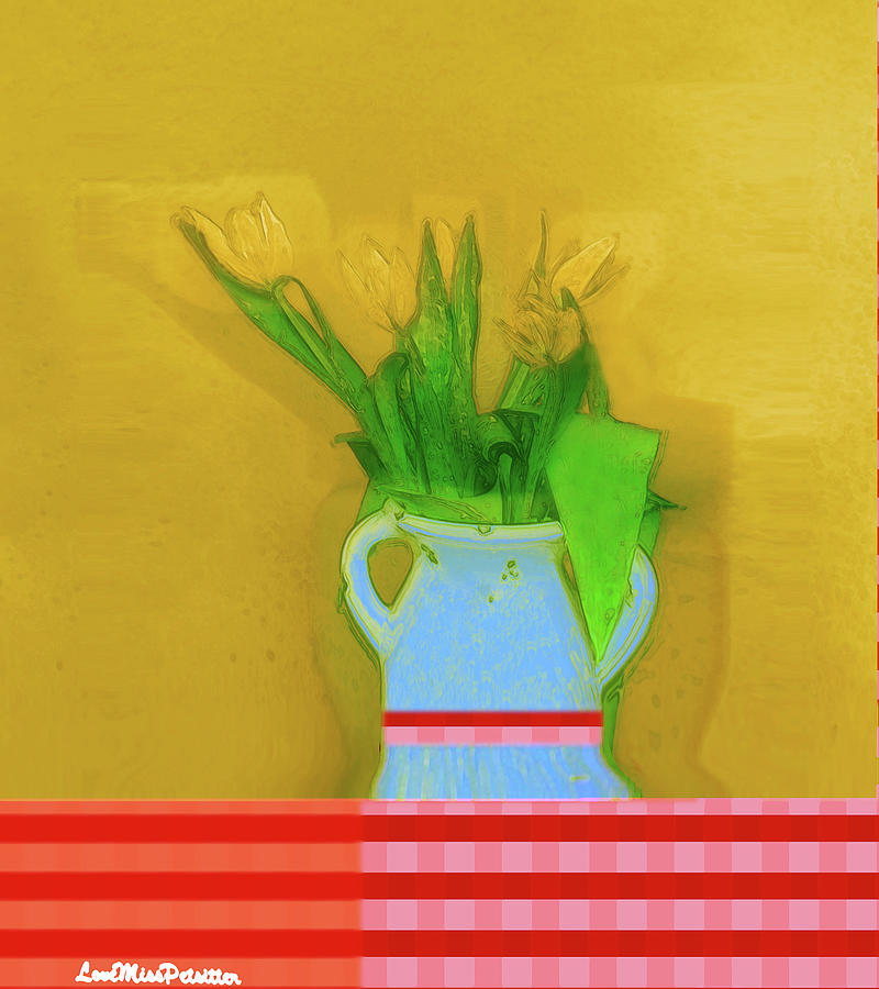 Abstract Floral Art 323 by Miss Pet Sitter