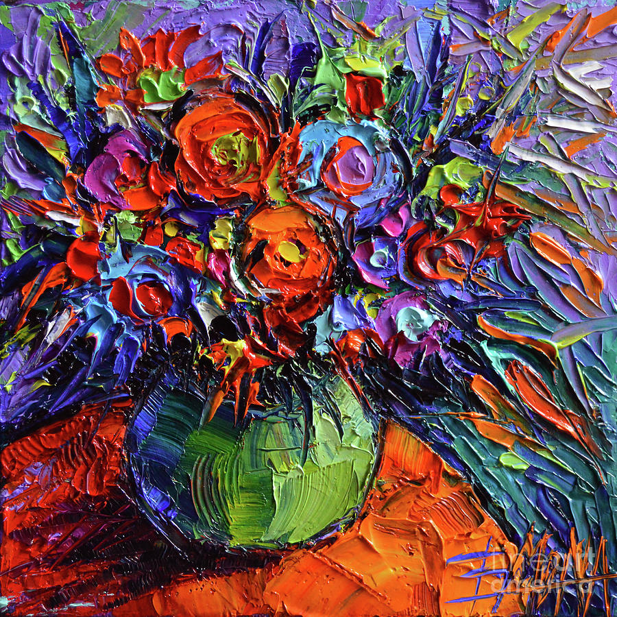 Easy Glass Paintings Of Flowers