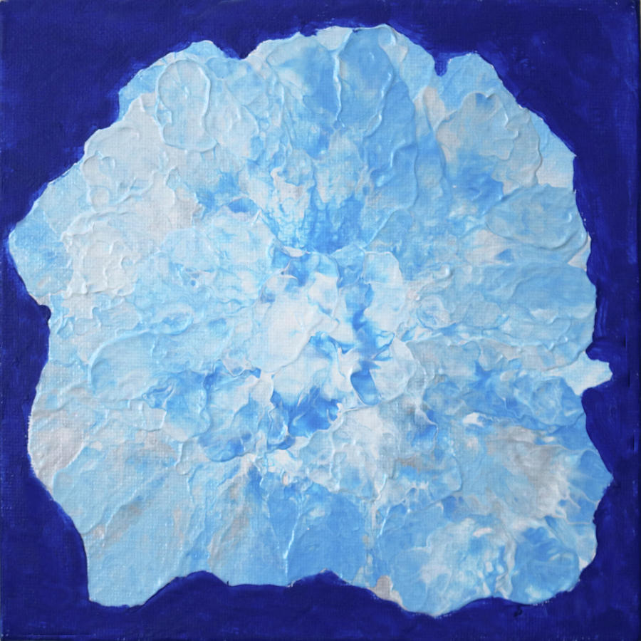 Abstract Flower in Blue by Deborah Boyd
