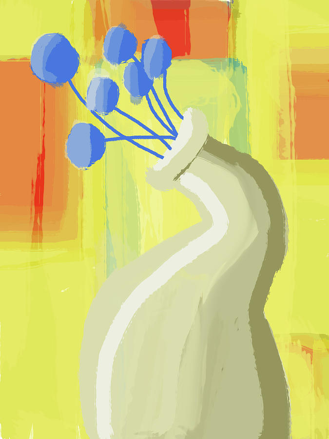 Abstract Flower Vase 2 Digital Art