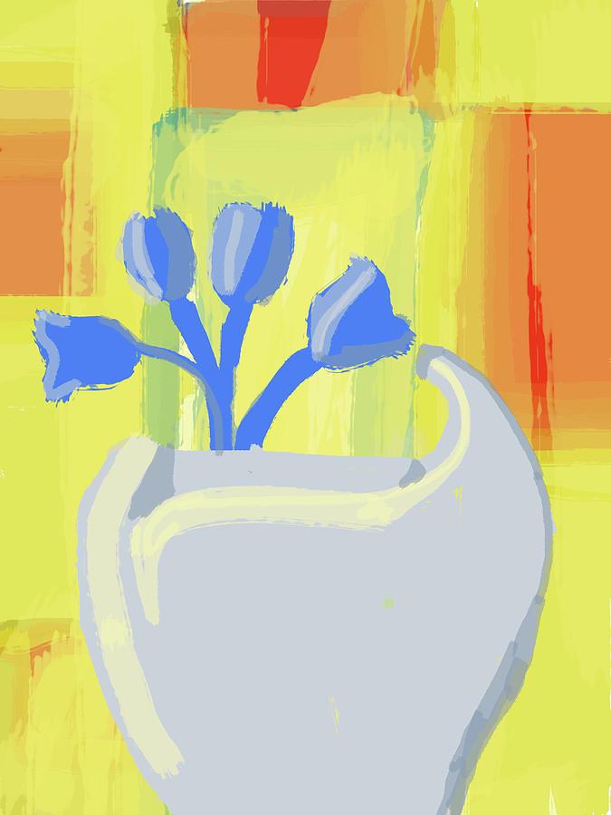 Abstract Flower Vase Digital Art