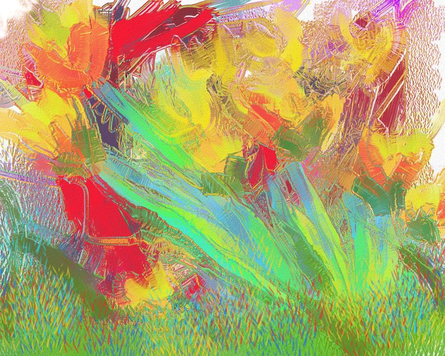 Abstract Painting - Abstract Flowers by Harry Dusenberg