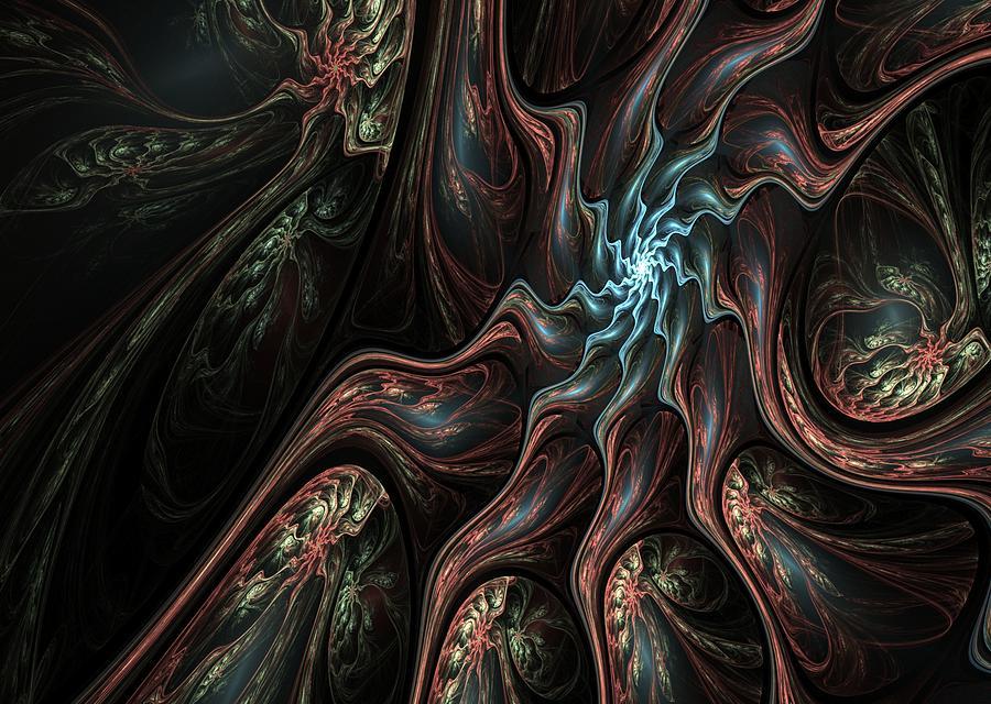 Abstract Digital Art - Abstract Fractal 050810 by David Lane