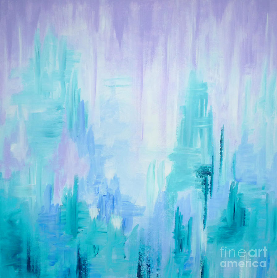 Abstract Painting - Abstract Frost 1 by Julia Underwood