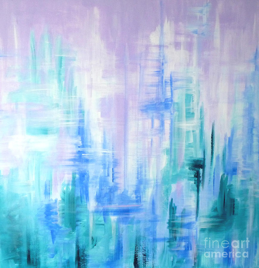 Frost Painting - Abstract Frost 2 by Julia Underwood